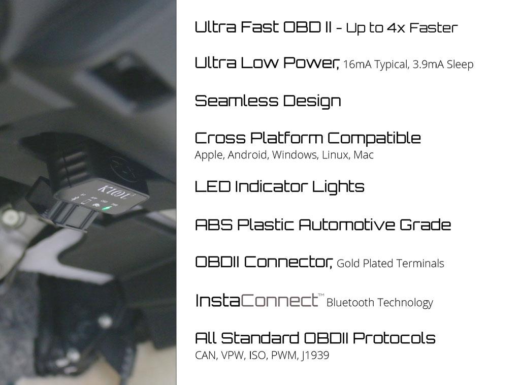 PLX kiwi3 OBDII Wireless Bluetooth Scan Tool